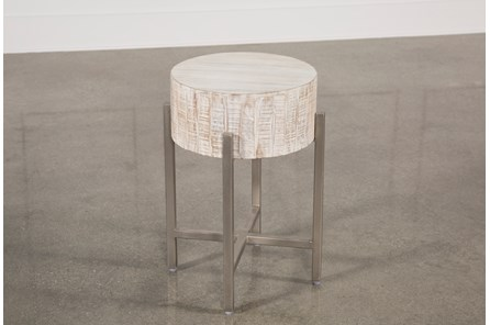 White Wash End Table - Main