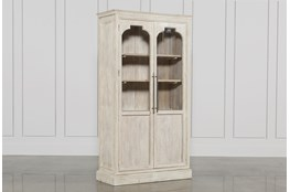White Wash 2-Door Tall Cabinet