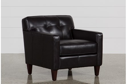 Madison Espresso Leather Chair - Main