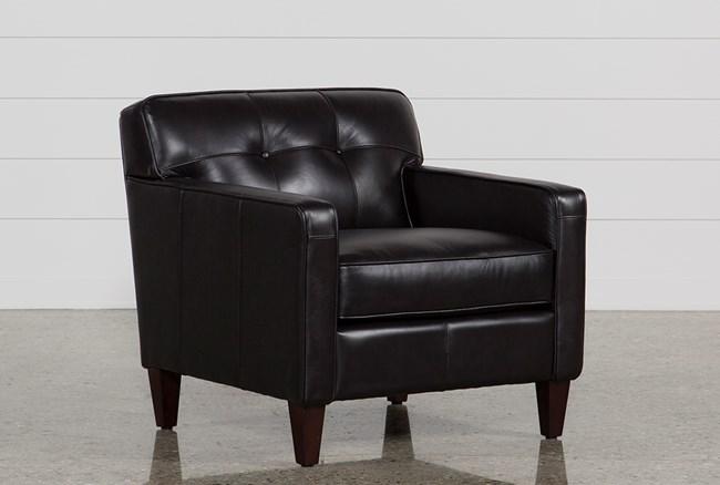 Madison Espresso Leather Chair - 360