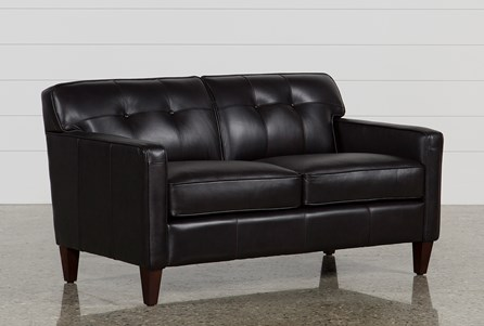 Madison Espresso Leather Loveseat