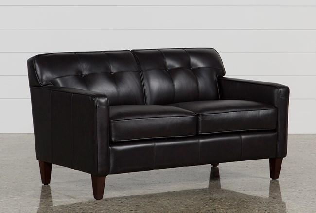 Madison Espresso Leather Loveseat - 360