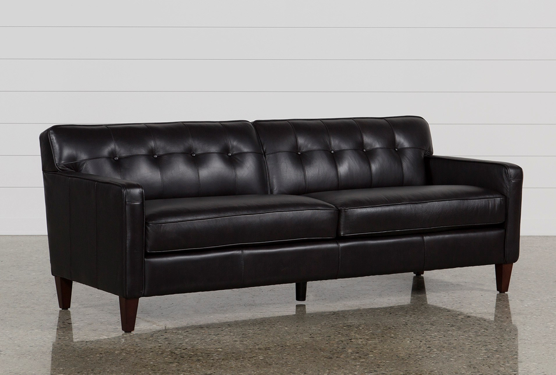 Madison Espresso Leather Sofa