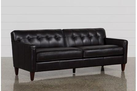 Madison Espresso Leather Sofa - Main