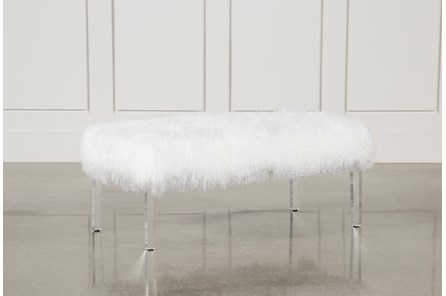 White Bench W/Lucite - Main
