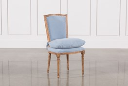 Dining Chair W/Blue Loose Seat