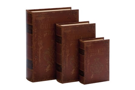 3 Piece Set Travel Book Boxes - Main