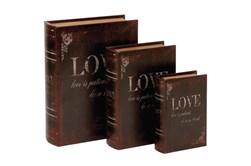 3 Piece Set Love Book Boxes