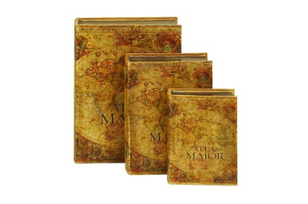 3 Piece Set Atlas Maior Book Boxes - Main