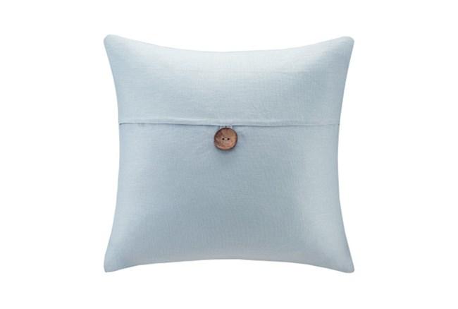 Accent Pillow-Linen Button Light Blue 20X20 - 360