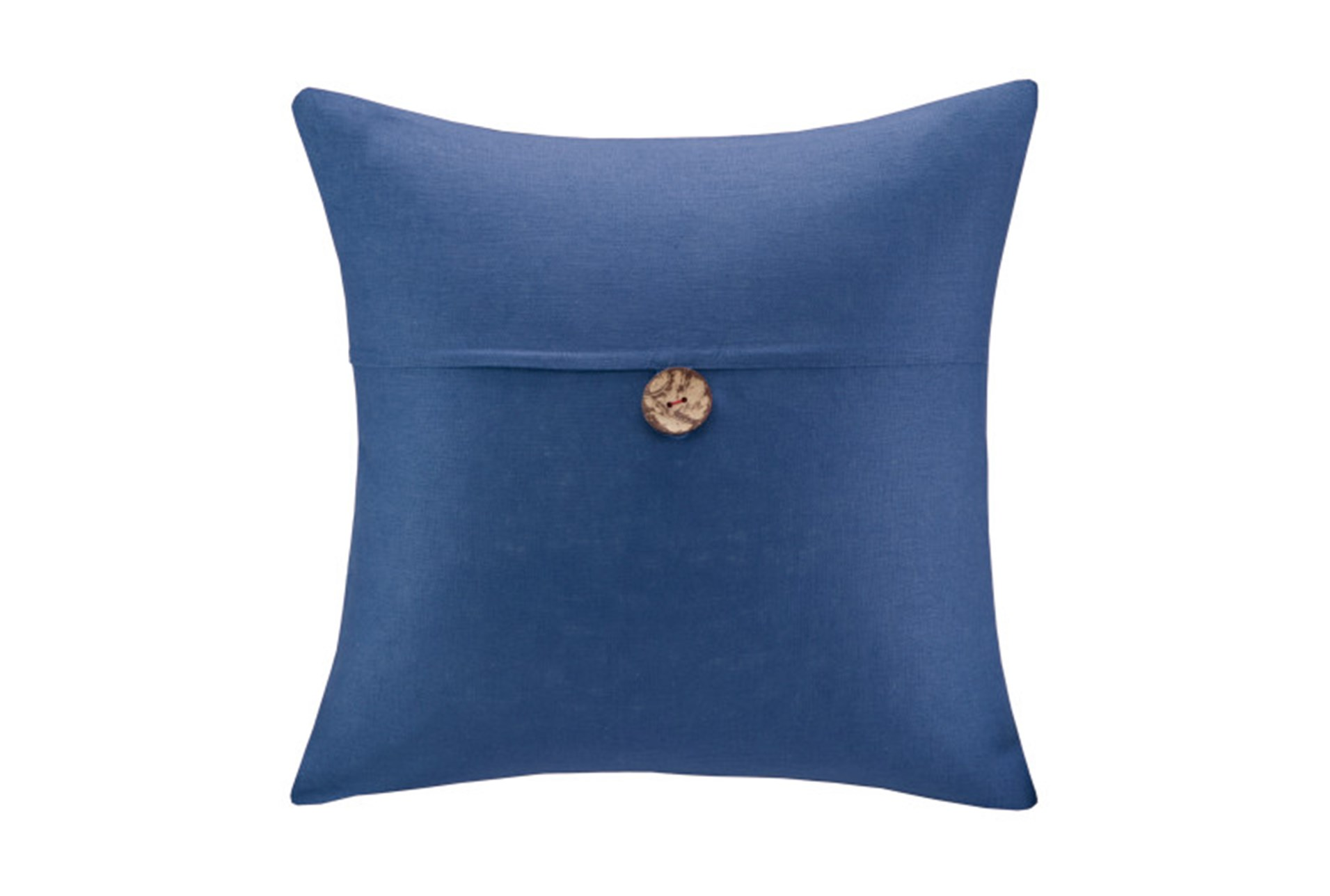 Throw Pillows With Big Buttons : Accent Pillow-Linen Button Navy 20X20 Living Spaces