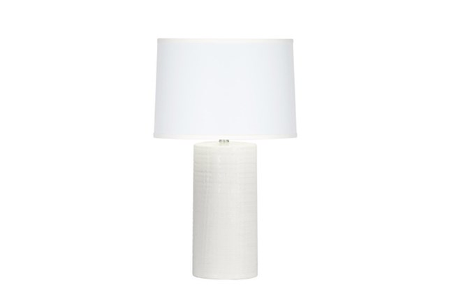 Table Lamp-Bone White Striations - 360