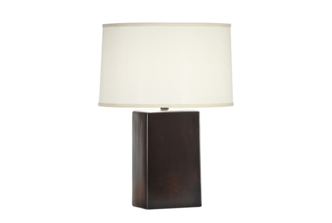 Table Lamp-Black Walnut Column