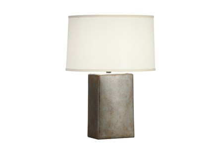 Table Lamp-Tarnished Silver Column