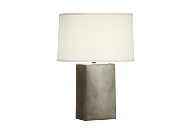 Table Lamp-Tarnished Silver Column - 360
