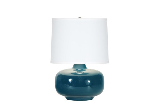 Table Lamp-Zoey Teal - 360