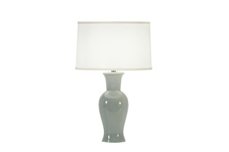 Table Lamp-Blue Crackle Urn - Main