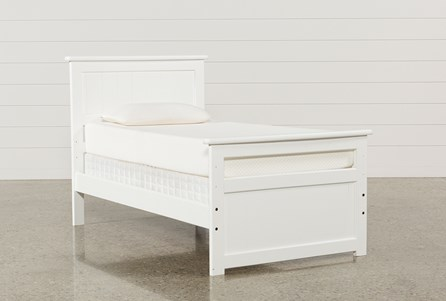 Summit White Twin Panel Bed