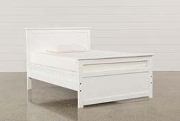 Summit White Full Panel Bed