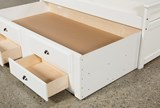 Summit White Full Panel Bed With 2-Drawer Captain Trundle - Top