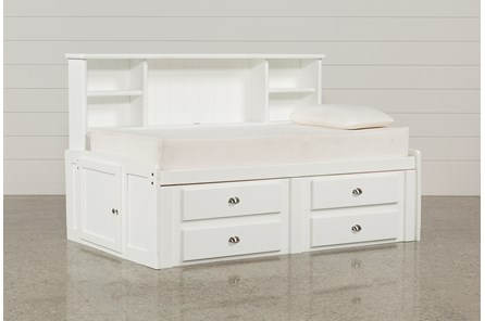 Summit White Twin Roomsaver Bed With 4-Drawer Storage Unit - Main