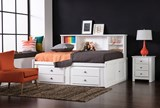 Summit White Full Roomsaver Bed With 4-Drawer Storage Unit - Room