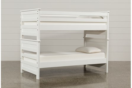 Summit White Twin Over Twin Bunk Bed - Main