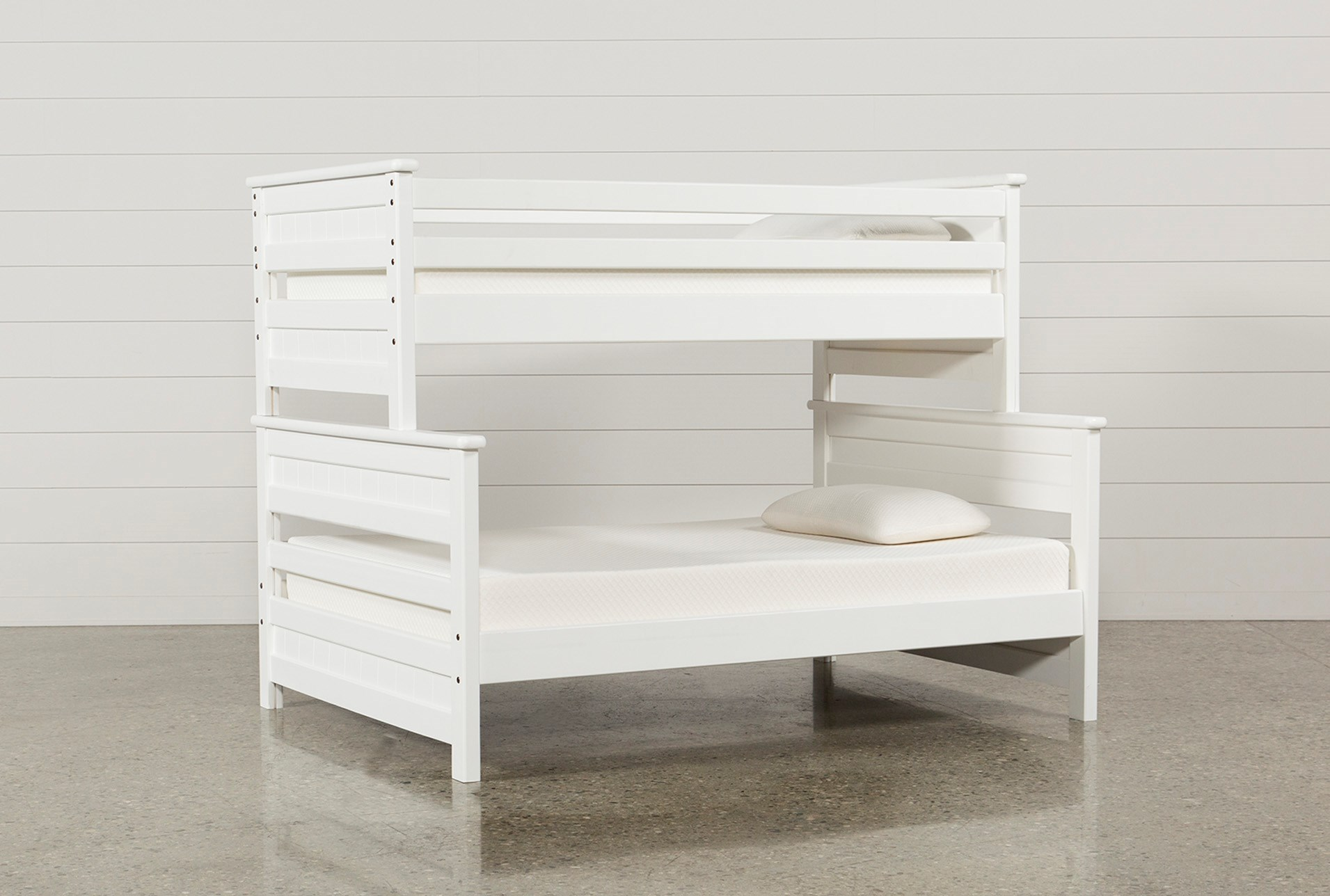Summit White Twin Over Full Bunk Bed | Living Spaces