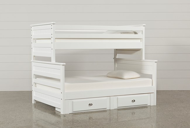 Summit White Twin Over Full Bunk Bed With 2- Drawer Underbed Strg Unit - 360