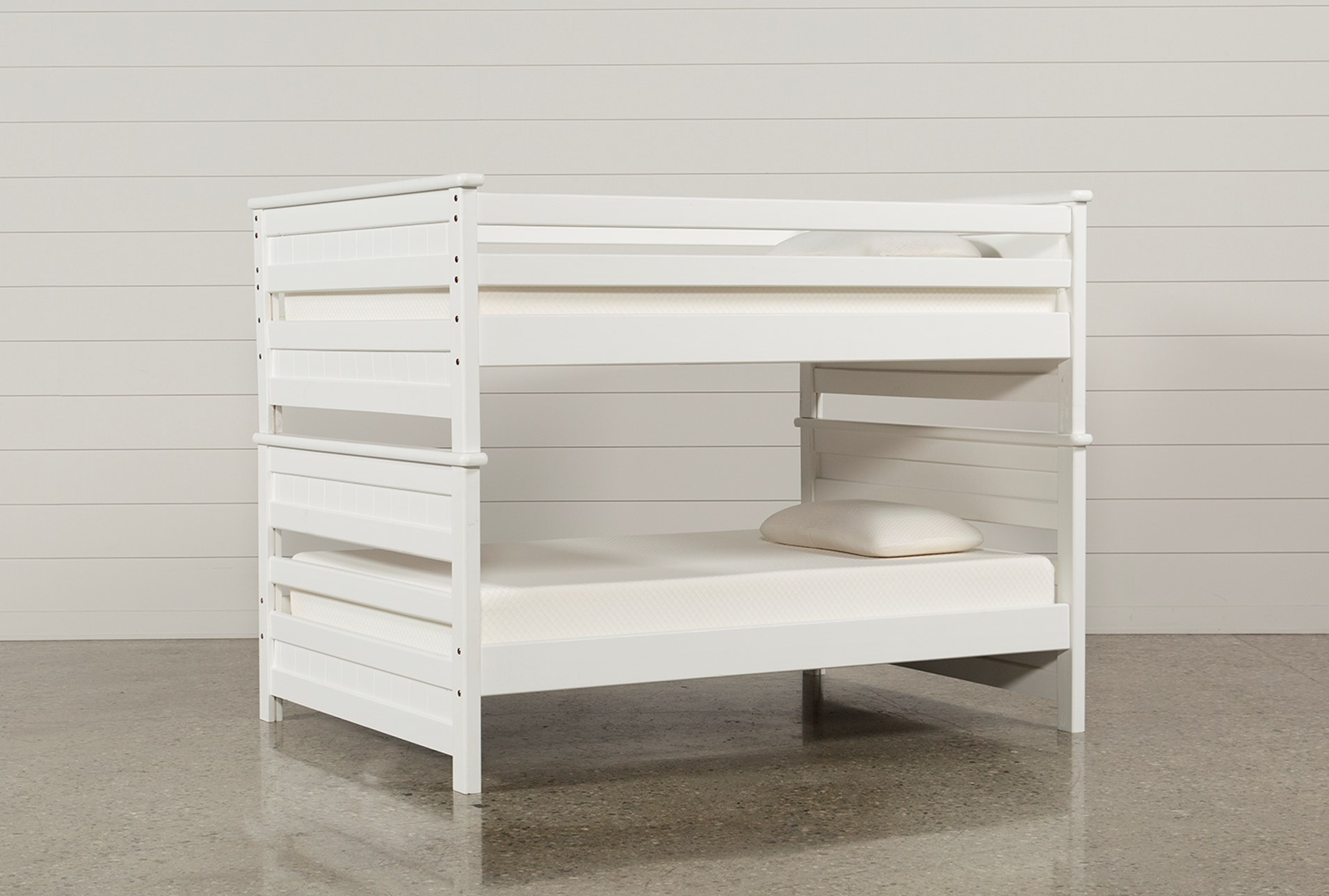 Summit White Full Over Full Bunk Bed Living Spaces