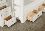 Summit White Full Over Full Bunk With 2- Drawer Undrbd Strg & Stairway - Top