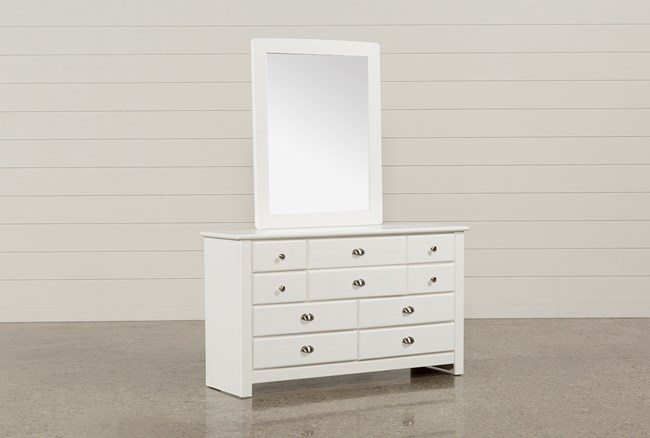 Summit White Dresser/Mirror - 360
