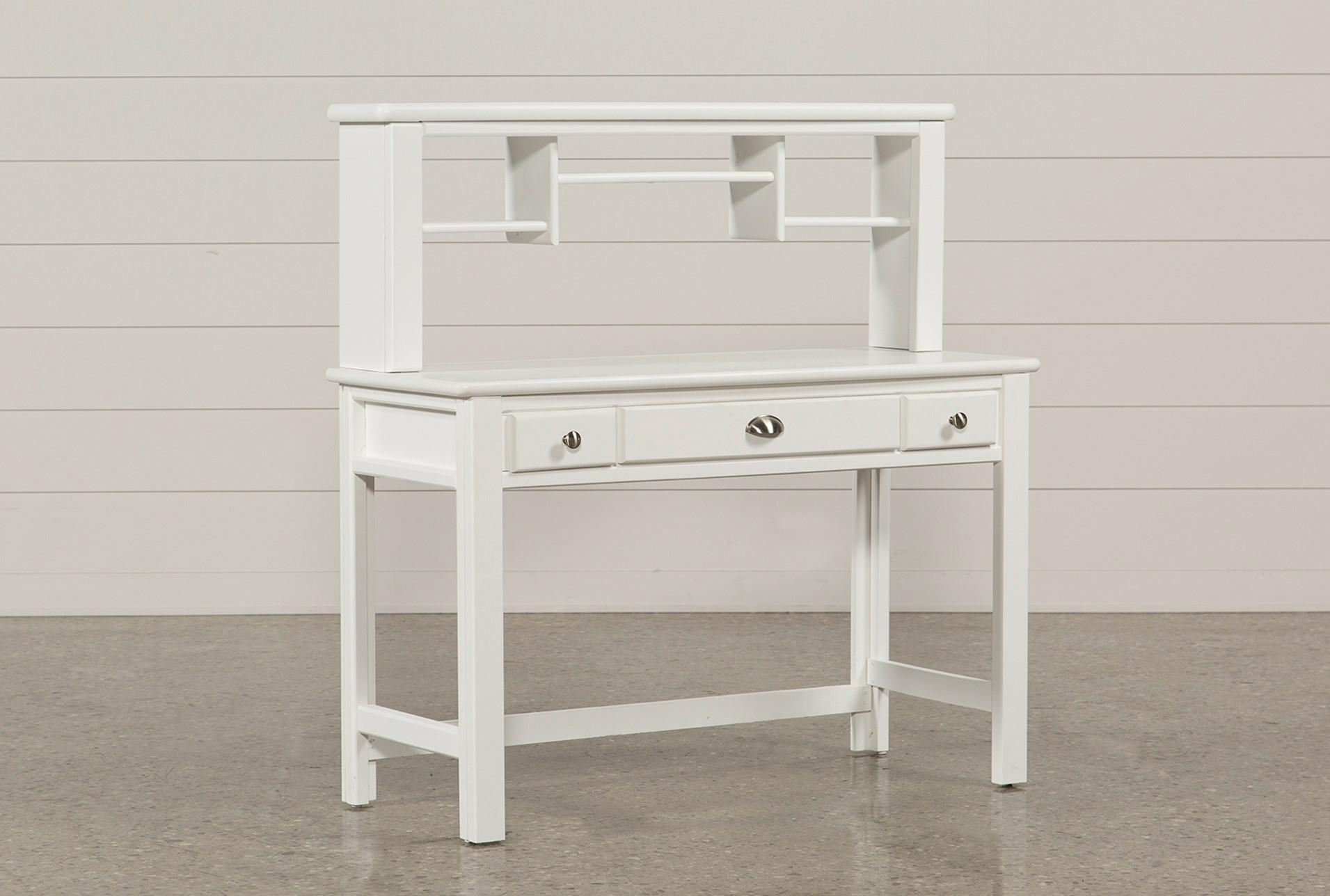 white desk with hutch. Summit White Desk/Hutch Desk With Hutch