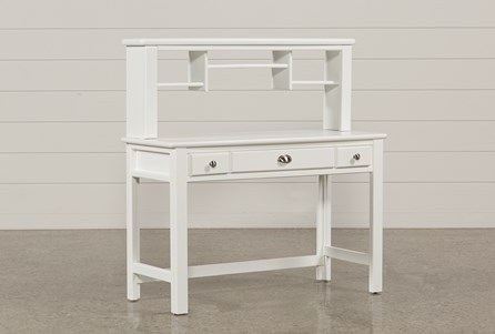 Summit White Desk/Hutch