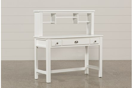 Summit White Desk/Hutch - Main