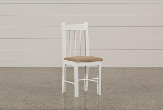 Summit White Desk Chair - 360