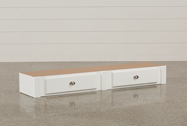 Summit White 2-Drawer Underbed Storage - 360