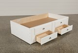 Summit White 2-Drawer Captains Trundle - Top