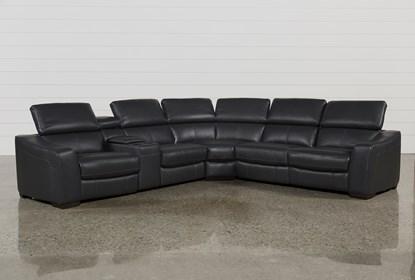 Swell Kristen Slate Grey 6 Piece Power Reclining Sectional Lamtechconsult Wood Chair Design Ideas Lamtechconsultcom