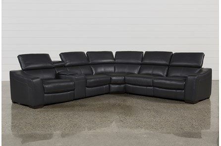Kristen Slate Grey 6 Piece Power Reclining Sectional