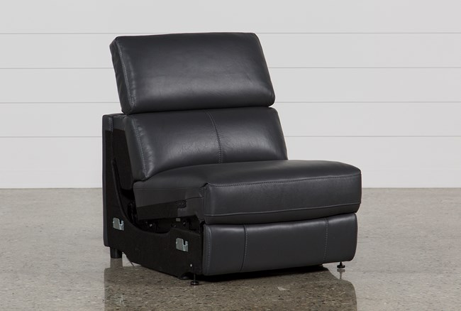 Kristen Slate Grey Armless Power Recliner - 360
