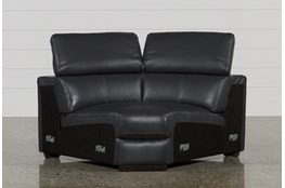 Kristen Slate Grey Leather Corner Wedge