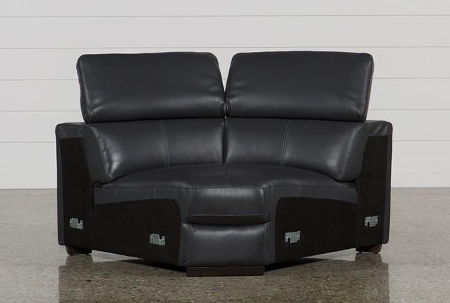 Kristen Slate Grey Leather Corner Wedge - 360