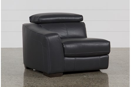 Kristen Slate Grey Leather Laf Power Recliner W/Usb