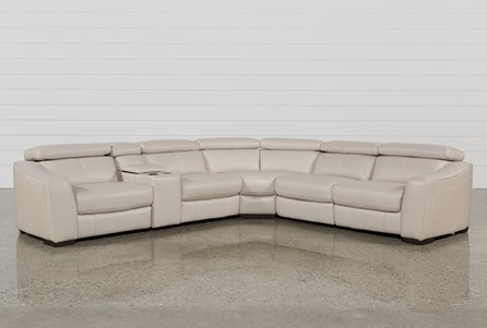 Kristen Silver Grey 6 Piece Power Reclining Sectional