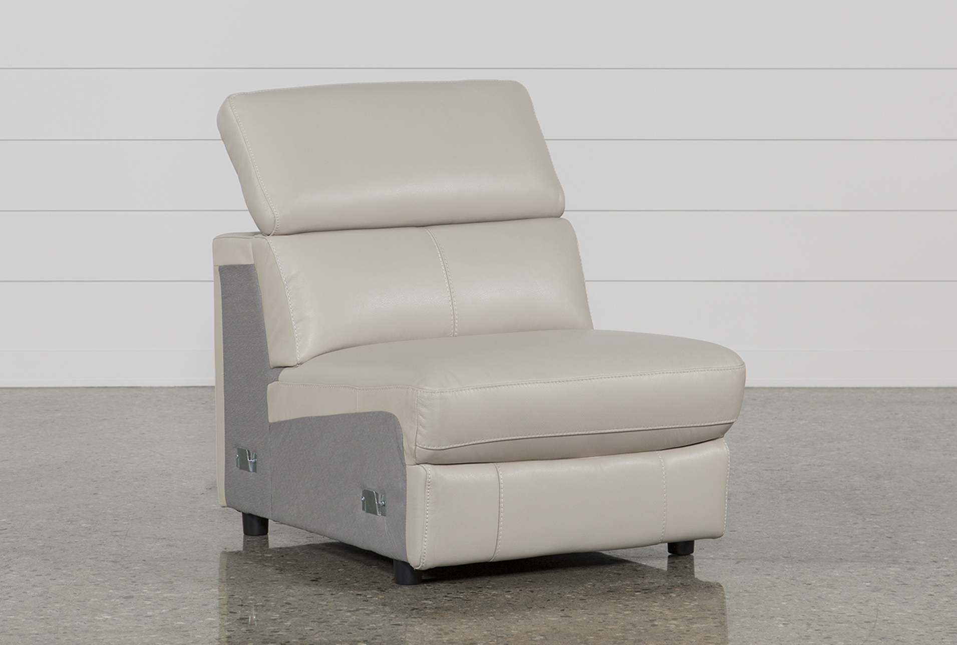 Kristen Silver Grey Leather Armless Chair (Qty: 1) Has Been Successfully  Added To Your Cart.