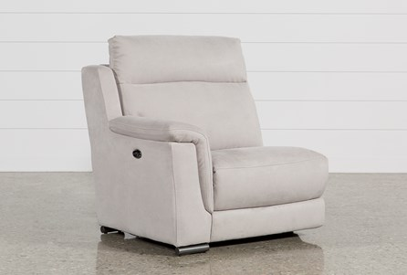 Kerwin Silver Grey Left Facing Power Recliner W/Usb