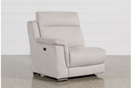 Kerwin Silver Grey Left Facing Power Recliner W/Usb - Main