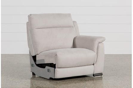kerwin silver grey right facing power recliner wusb - Clearance Living Room Furniture
