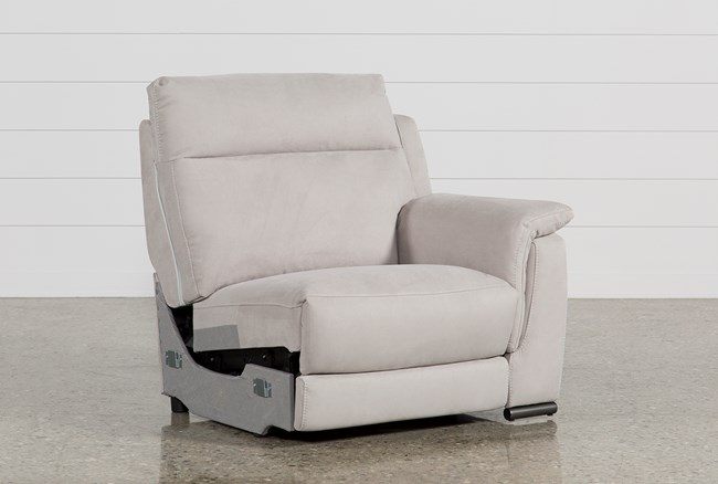 Kerwin Silver Grey Right Facing Power Recliner W/Usb - 360